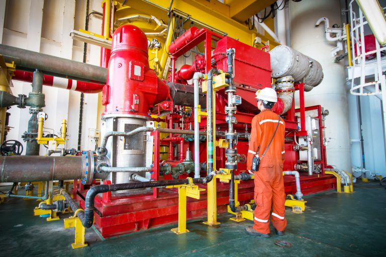 Technician in an oil and gas refinery